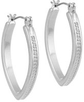 Laundry by Shelli Segal Marquis Huggie Hoop Earrings