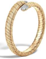 John Hardy Classic Chain 18k Single Coil Diamond Bracelet