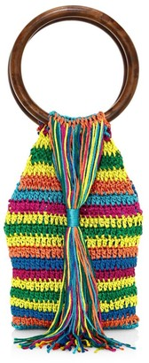 All Things Mochi Rainbow Kai Woven Top Handle Bag