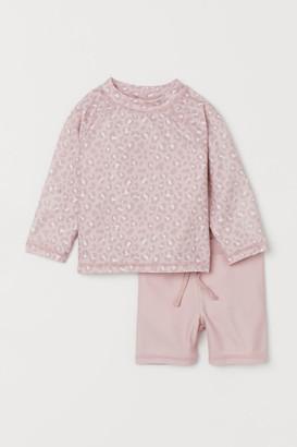 H&M Swim Set UPF 50 - Pink
