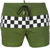 DSQUARED2 checkerboard swim shorts - men - Nylon/Spandex/Elastane - 46