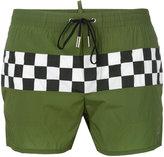 DSQUARED2 checkerboard swim shorts - men - Nylon/Spandex/Elastane - 50