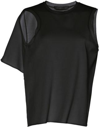 Low Classic Asymmetric Cutout Stretch-Jersey T-Shirt