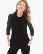 Chico's Velour Mixed Pullover
