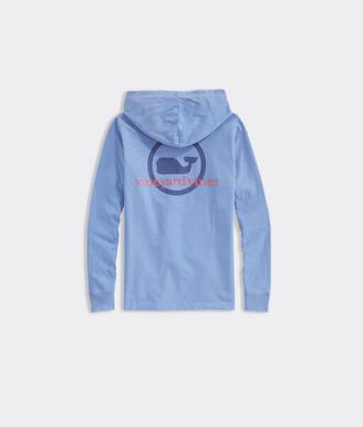 Vineyard Vines Boys' Garment-Dyed Whale Dot Long-Sleeve Hoodie Tee