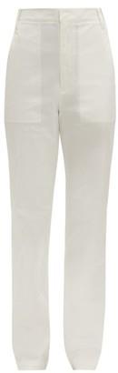 Tibi Sebastian High-rise Cotton-blend Twill Trousers - White