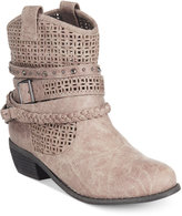 Naughty Monkey Not Rated Vanoora Perforated Ankle Booties
