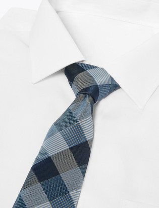 Marks and Spencer Slim Woven Blanket Check Tie