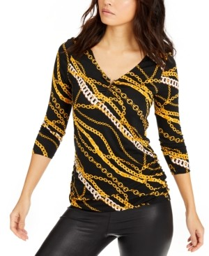 Thalia Sodi V-Neck Top, Created for Macy's