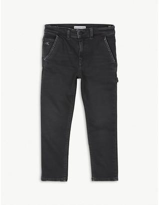Calvin Klein Jeans Mid-rise cotton Carpenter jeans 4-16 years