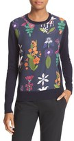 Ted Baker Women's Nantise Horticultural Print Front Cotton Sweater