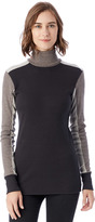 Alternative City Block Eco-Mock Rib Turtleneck Top