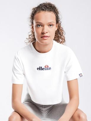 Ellesse Fireball Crop T-Shirt in White