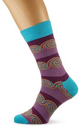Happy Socks Happy Socks, Cool Colourful Patterned Cotton Socks for Men and Women, Windy Stripe Sock ()