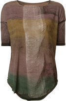 Raquel Allegra gradient T-shirt - women - Cotton/Polyester - M