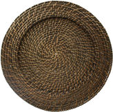 Jay Imports Round Woven Rattan Set of 4 Chargers