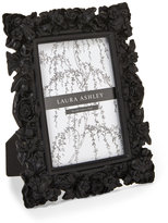 "Laura Ashley Black 4"" x 6"" Floral Picture Frame"