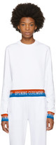 Opening Ceremony White Elastic Logo Sweatshirt