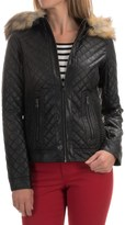 Bar III Quilted Jacket - Vegan Leather (For Women)