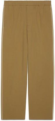 Gucci logo print cotton nylon pant