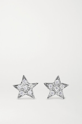 Carolina Bucci Superstellar 18-karat White Gold Diamond Earrings - one size