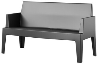 Mercury Row Bence Plastic Outdoor Garden Bench Mercury Row Color: Black