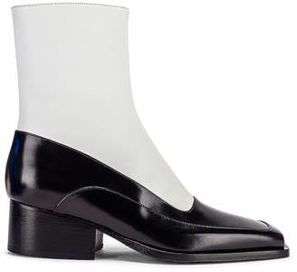 Y/Project 19508 Fitted Ankle Boot in Black & White | FWRD