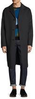Jil Sander Wool Notch Lapel Belted Top Coat