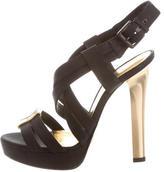 Bottega Veneta Round-Toe Buckled Sandals