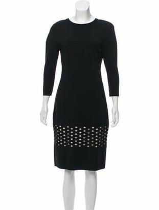 Fendi Eyelet Mini Dress Black
