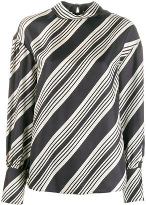 Joseph Olwen diagonal stripe blouse