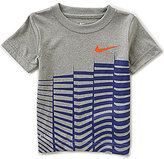 Nike Little Boys 2T-7 Linear Stagger Short-Sleeve Tee
