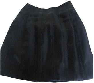 Gianni Versace Black Silk Skirt for Women