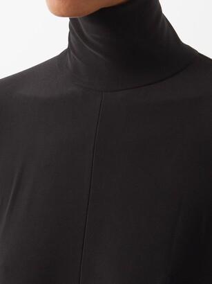 Norma Kamali High-neck Jersey Wide-leg Jumpsuit - Black