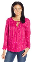 Lucky Brand Women's Bright Vines Top