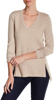 Cullen Quilted V-Neck Pullover