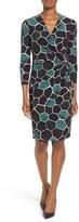 Anne Klein Women's Mosaic Print Faux Wrap Dress