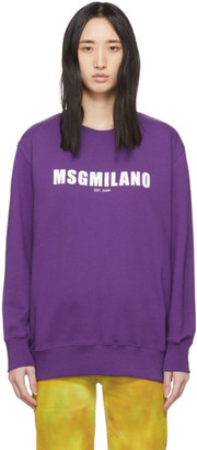 MSGM Purple Milano Est. 2009 Sweatshirt