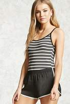 Forever 21 Striped Ribbed Bodysuit
