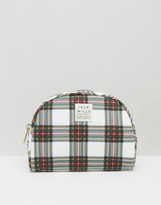 Jack Wills Check Print Makeup Bag