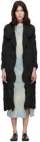 Issey Miyake Black Swirl Stretch Coat