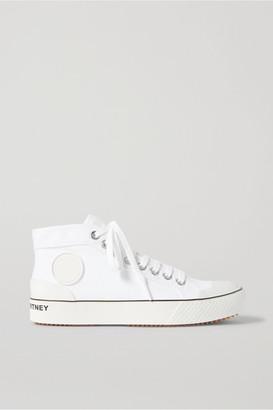Stella McCartney Net Sustain Organic Cotton-canvas High-top Sneakers - White