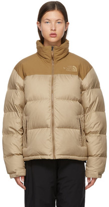 The North Face Beige Down Eco Nuptse Jacket