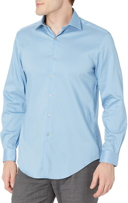 Van Heusen Men's Dress Shirt Slim Fit Stain Shield Stretch