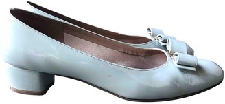 Salvatore Ferragamo Vara Turquoise Patent leather Ballet flats