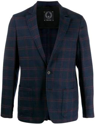 Tonello check-print single breasted blazer