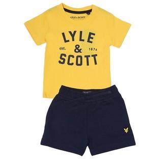 Lyle & Scott Infant Boys Infant Graphic T-Shirt Lb Sweat Shorts Set Dandelion