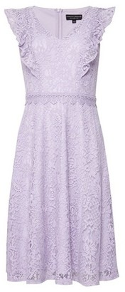Dorothy Perkins Womens Lilac Lace 'Taylor' Skater Dress
