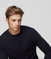 Reiss Reiss Charmer - Wool And Cashmere Jumper In Blue, Mens