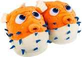 Firebox Giant Pufferfish Cute Warm Soft Novelty Slippers Feet Warmers